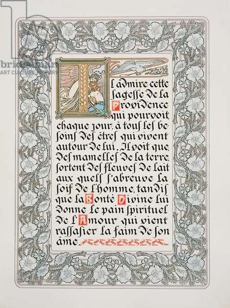 Page from 'Le Pater', 1899 (colour litho)