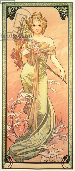 The Seasons: Spring, 1900 (colour litho)