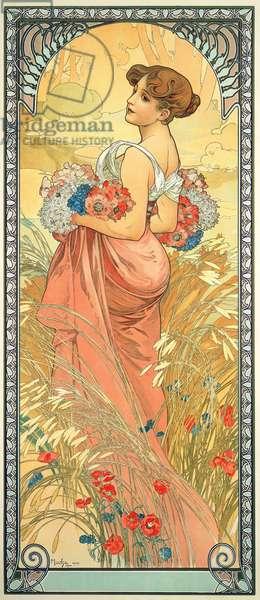 The Seasons: Summer, 1900 (colour litho)