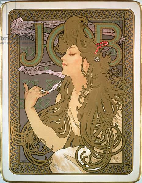Poster advertising 'Job' cigarette papers, 1896 (colour litho)