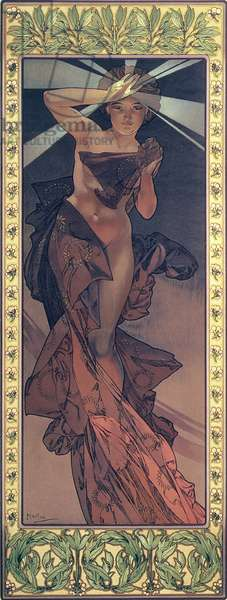The Moon and the Stars: Morning Star, 1902 (colour litho)