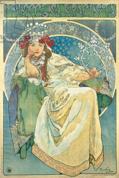 Princess Hyacinth, 1911 (colour litho)