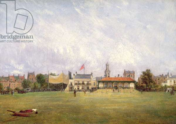 Kennington Oval: The Ground and the Pavilion, c.1858 (oil on canvas) (pair of 37208)