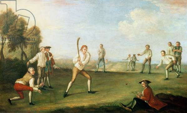 Cricket in the Artillery Ground, 1743