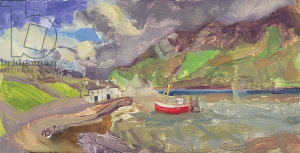April Shower in Mayo (oil on card)