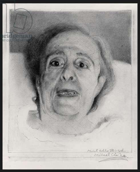 Muriel Belcher ill in Bed