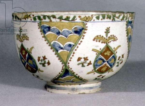 Bowl with scale pattern and palmette designs, Kutahya, Armenia, 1700-1750 (ceramic)