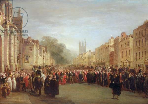 The Visit of the Prince Regent to Oxford, 1814 (oil on canvas)