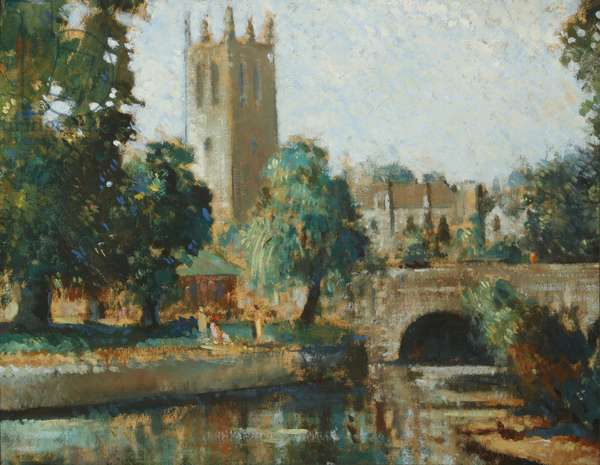 Magdalen Tower (oil on canvas)