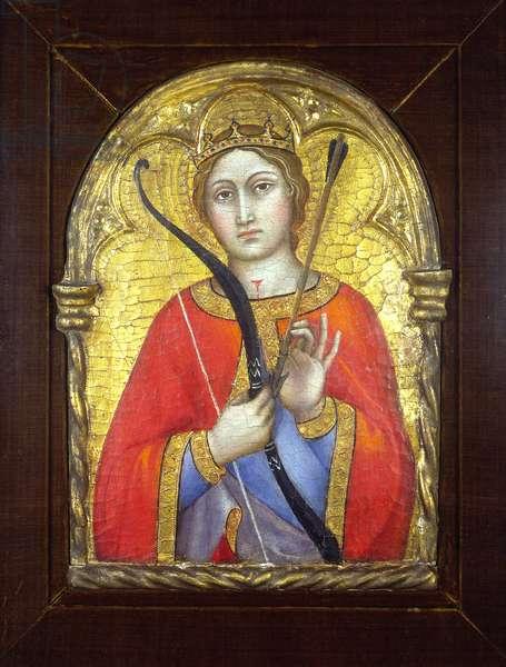 Saint Ursula (tempera on gold ground panel)