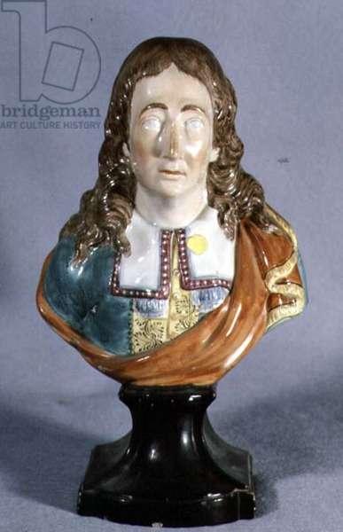 Portrait bust of John Milton (1608-74) late 19th century (painted plaster)