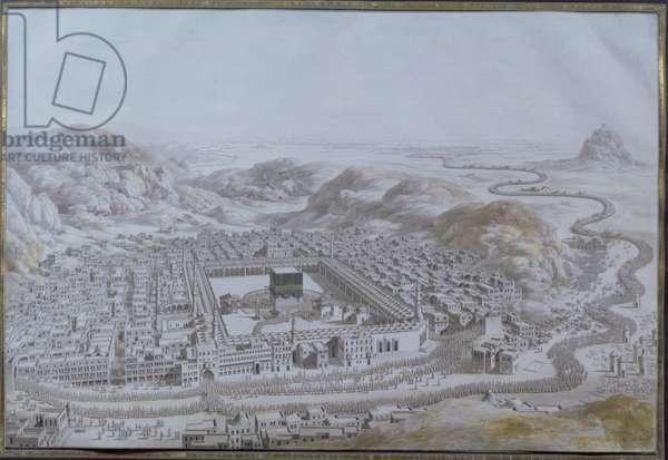 Bird's eye view of Mecca, 1784 (engraving)