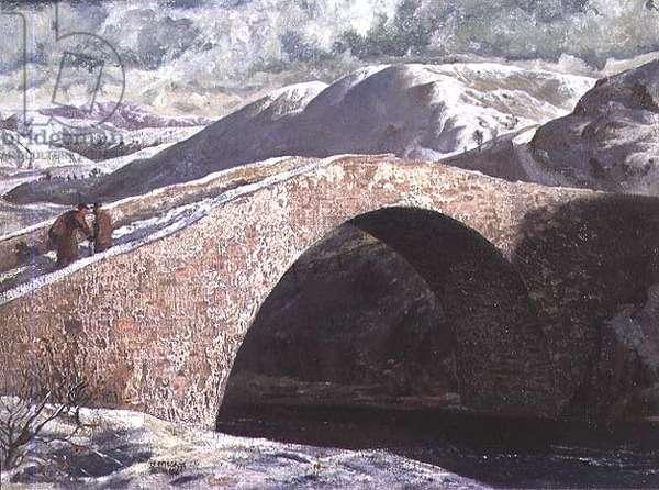 Wade's Bridge, Garve, 1935 (board)