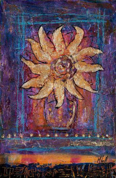 Sunflower, 2012 (acrylic on canvas)