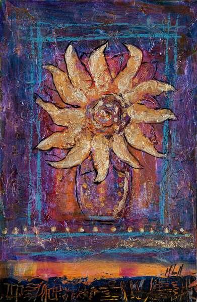 Sunflower, 2012 (acrylic on canvas)