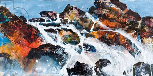 Coastal Encounter, 2011 (acrylic on canvas)