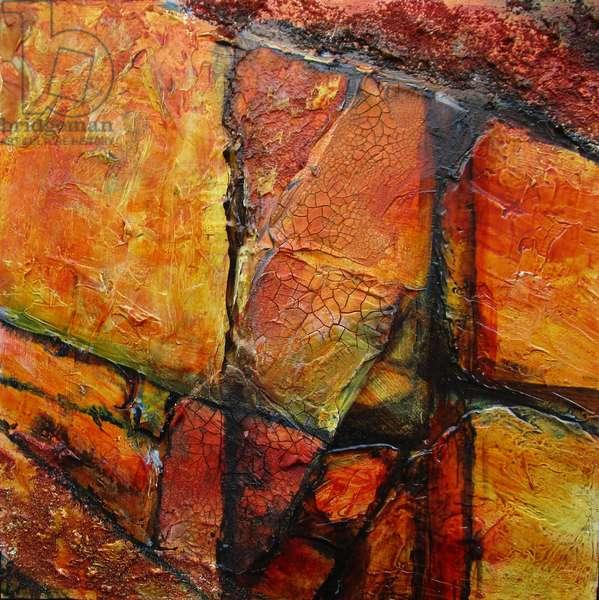 Geological abstract 1, 2021 (acrylic on board)