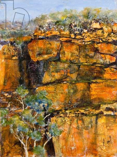 Cliff Face (acrylic on canvas)