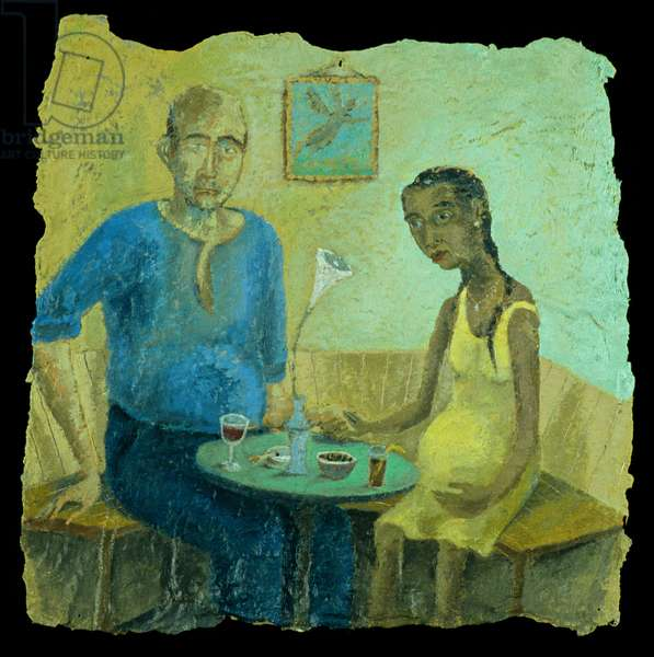 The Betrothal, 1995 (oil on paper)
