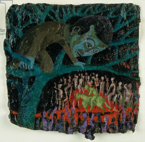 Zacchaeus, 1993 (oil on paper)