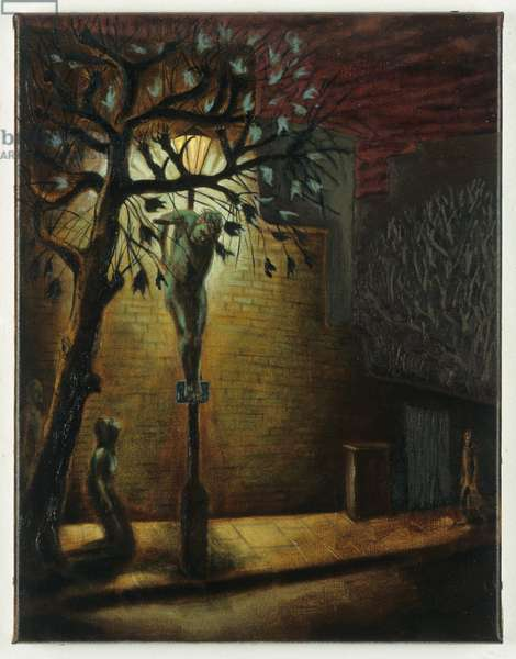 Christ crucified, 1999 (oil on linen)
