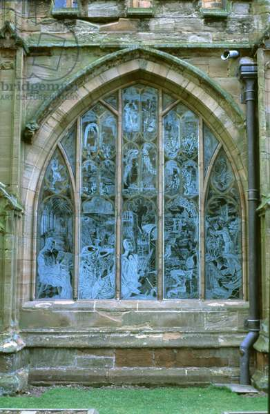 Millennium Window: 1000 years of Christianity in Worcestershire, 2000 (engraved and etched glass)