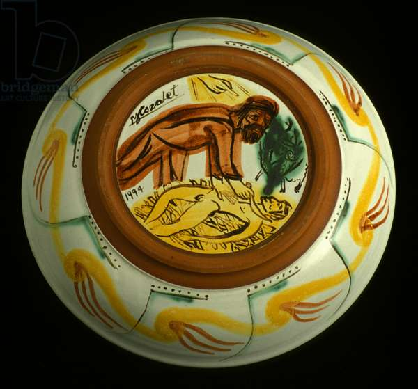 Swineherd's Life - verso, Prodigal Son series, 1994 (tin glaze ceramic)