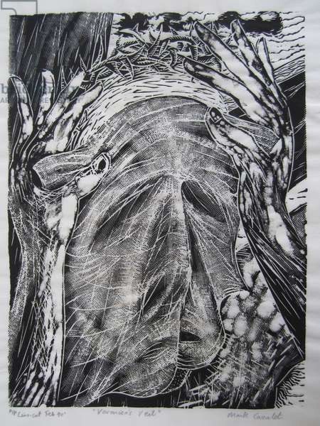 Veronica's veil, 1990 (linocut)