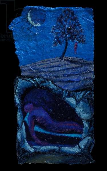 Christ and Judas die, 2002 (oil on paper)