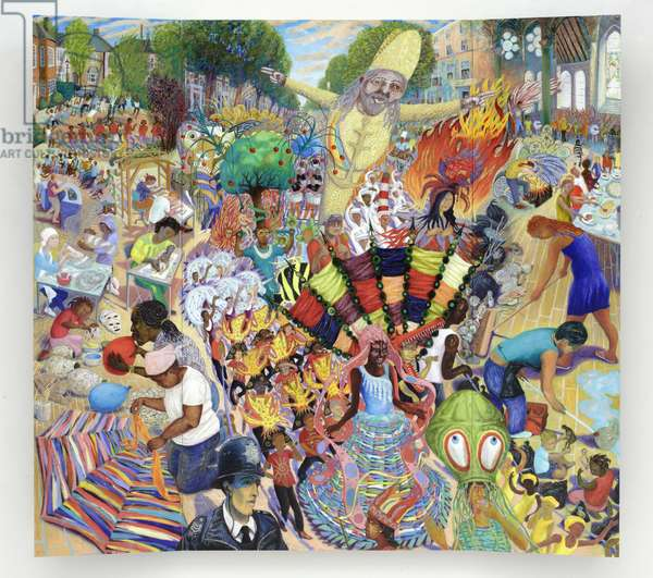 The Carnival triptych, 2008 (oil on wood panel)