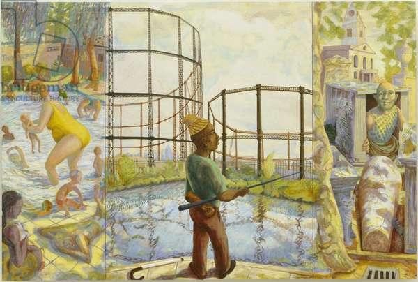 Three Johanine Healings, 2006 (oil on wood panel)