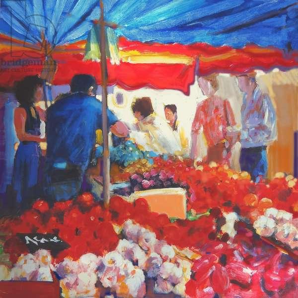 Market, 2002 (gouache on board)