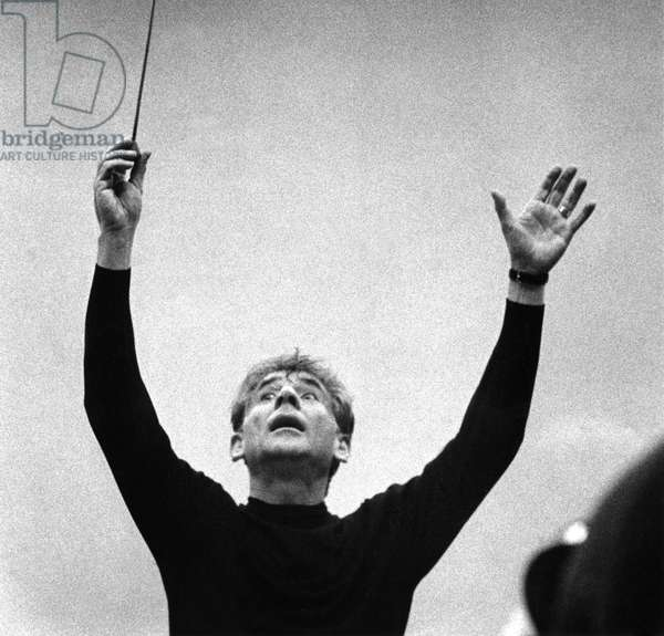 Leonard Bernstein rehearsing