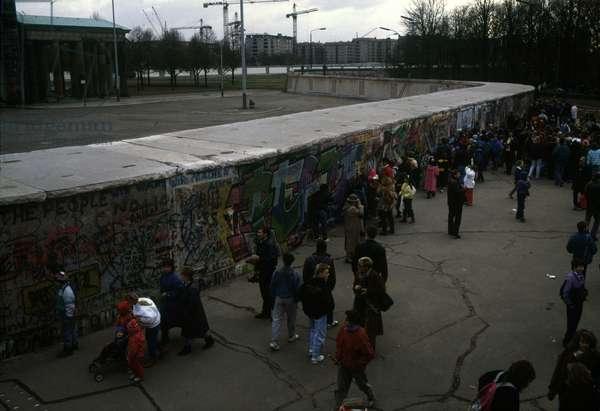 Fall of the Berlin Wall: West Berlin. November 1989