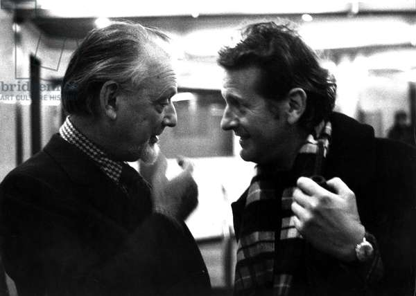 Portrait of Claude Spaak (1904 - 1990) and Gilles Perrault (born 1931). 1962