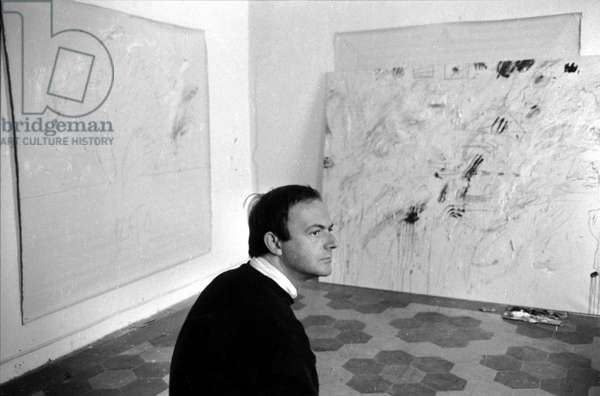 Portrait of Cy Twombly in Rome in 1961.