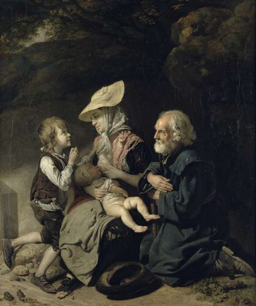 Beggars on the Road to Stanmore (oil on canvas)