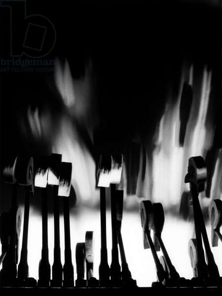 Artistic picture of piano hammers.