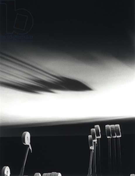 Artistic image of hammers