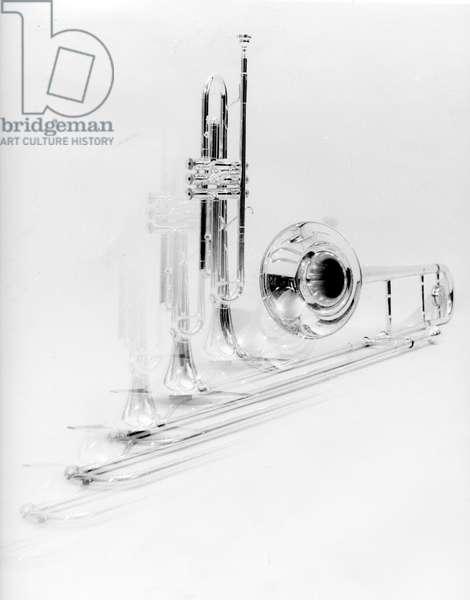 Transparent brass instruments
