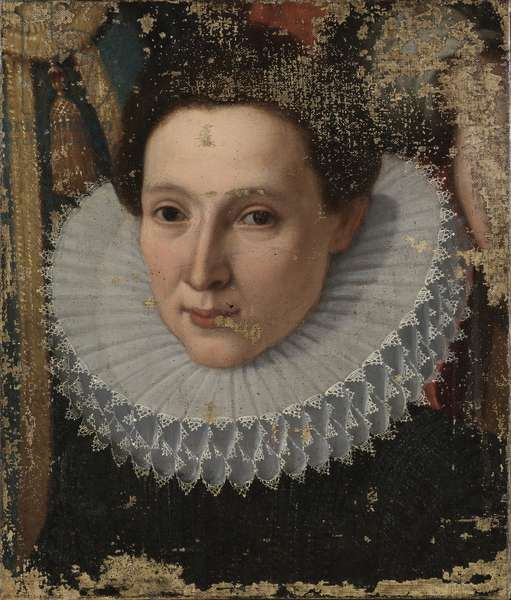 Portrait of a lady (Ritratto di dama) by Lombardy artist, 17th Century, oil on canvas, 43 x 33 cm