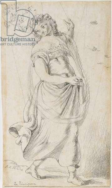 The Princess (La principessa), by Giorgio De Chirico, 1922, 20th century (pencil drawing)