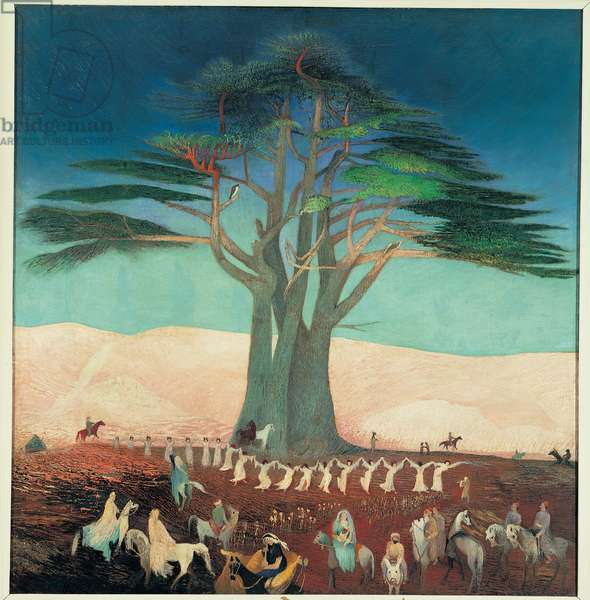 Pilgrimage to the Cedars of Lebanon, 1907 (oil on canvas)