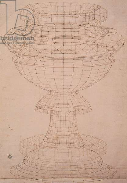 Goblet, (pen and ink)
