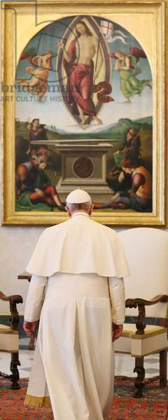 Pope Francis and James Alix Michel (photo)
