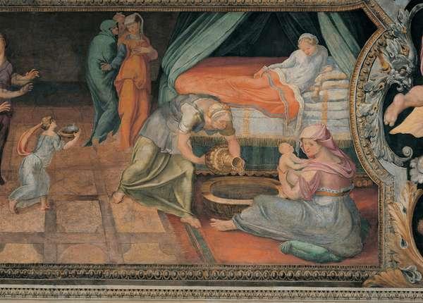 Birth of Achilles, (fresco)