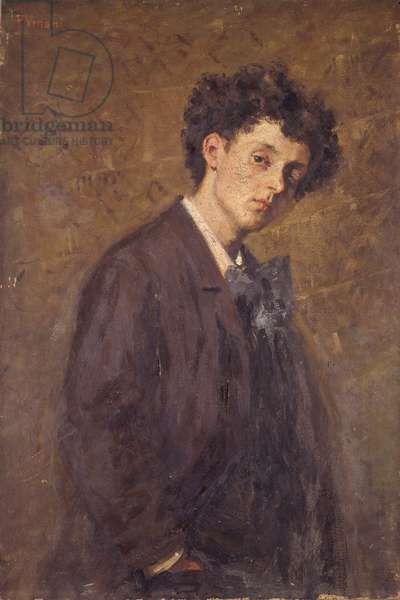 Portrait of Horace Grossoni, by Pietro Villani, 19th - 20th century, oil on canvas.
