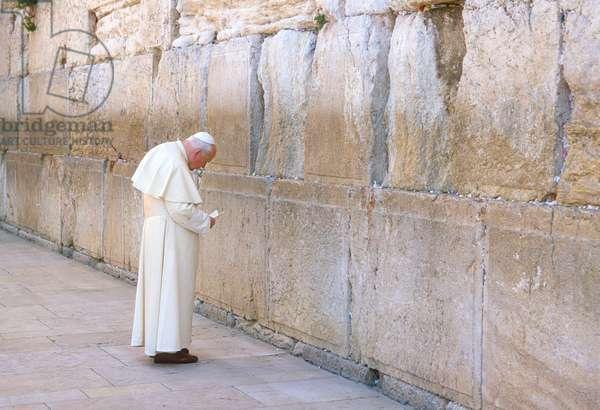 Pope John Paul II, Gerusalemme, Israele, 2000 (photo)