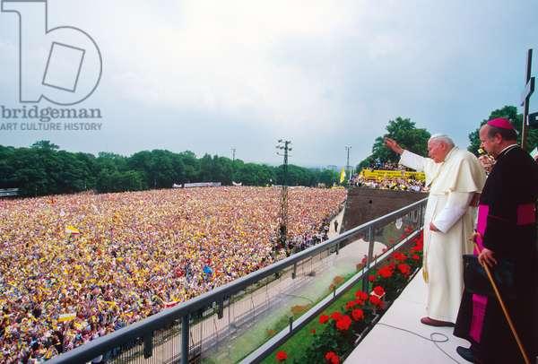 Pope John Paul II, Poland, 1999 (photo)