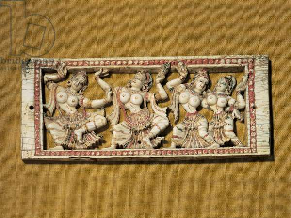 Ivory table with dancers, (carved ivory)